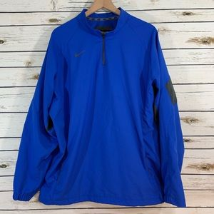 NIKE Men's Pullover Windbreaker XL Blue